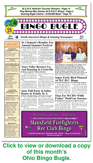 Click here to download a copy of Ohio Bingo Bugle